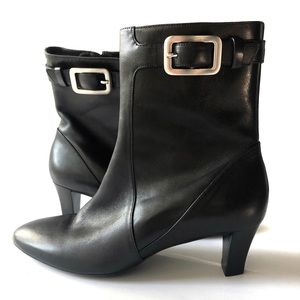 Cole Haan Nike Air Black Buckle Ankle Boots